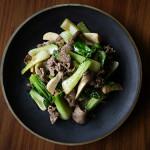 牛肉とチンゲンサイの味噌炒め