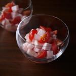 長いもの梅酢漬けとミニトマトのサラダ