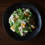 スナップエンドウとゆで卵のサラダ