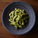 蒸し焼き枝豆