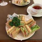 喫茶室とサンドイッチ